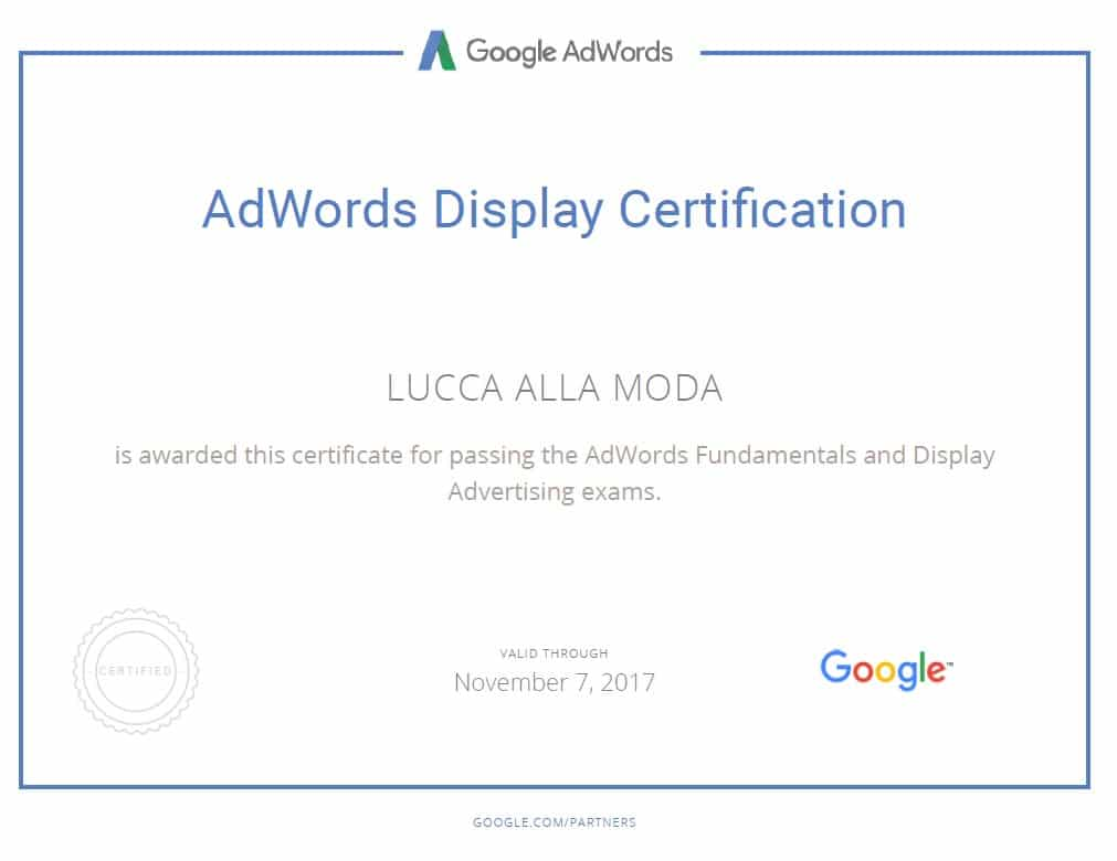 google adwords display certification - lucca am