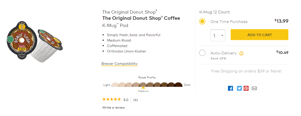 keurig - product page - best web designers rockford
