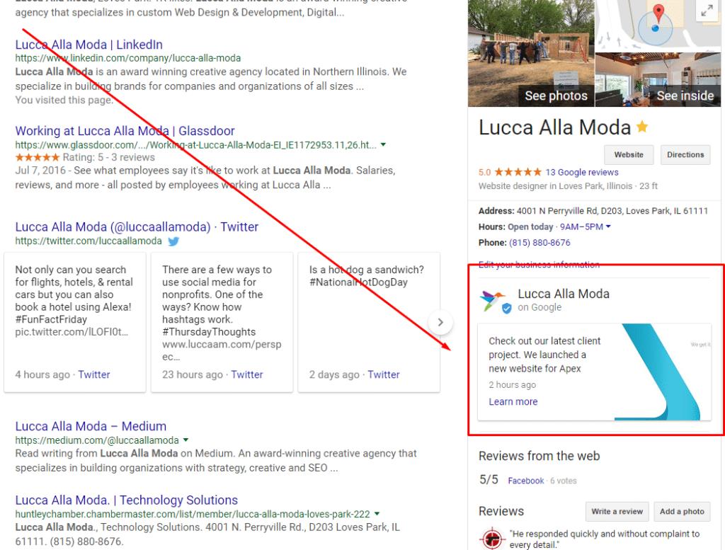 google post - SERP