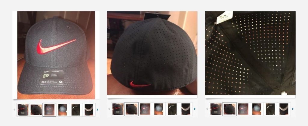 bad product picture - nike hat