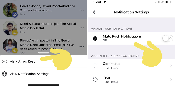 Want to get rid of the little red dot notifications on your Facebook page?