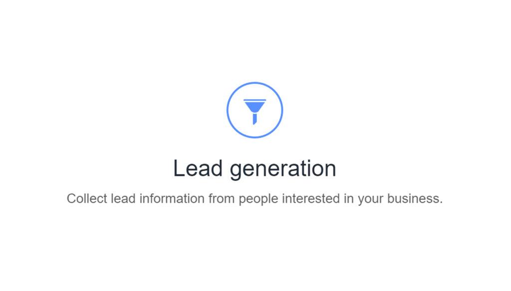 facebook lead generation ad